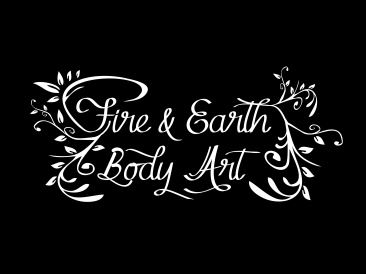 Fire and Earth Logo White